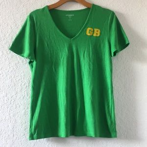 Women Lizclairborne GreenBay Packers Top size L